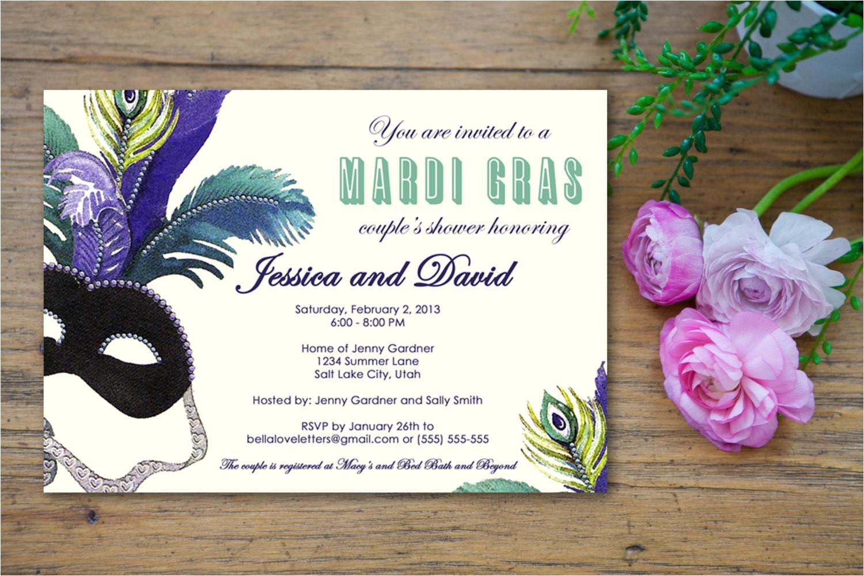 masquerade mardi gras bridal shower
