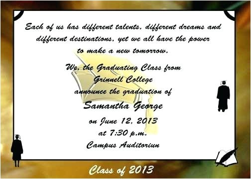 graduation announcements wording samples