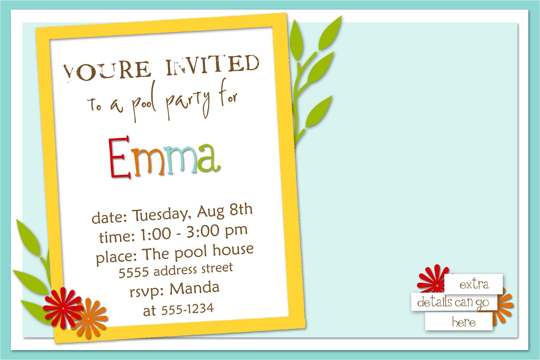 invitation card sample for birthday party best themes masters degree graduation party invitations wording also