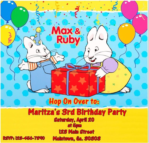 max and ruby birthday invitations