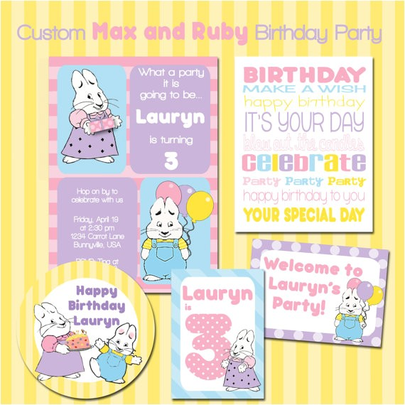 custom max ruby birthday party printable