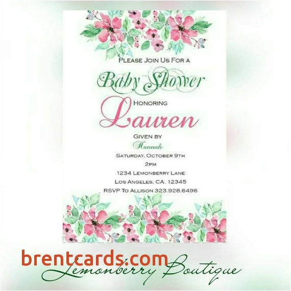 walgreens invitations baby shower floral pink and green baby shower invitations 4x6 walgreens