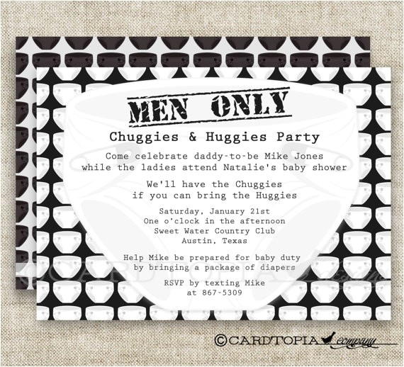 diaper party men only baby shower