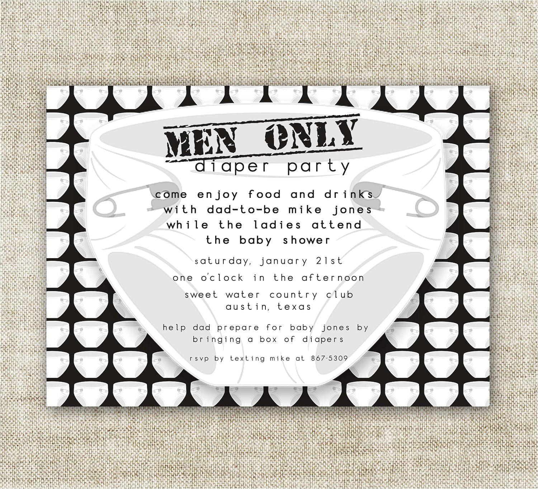 Mens Baby Shower Invitations Diaper Party Men Ly Baby Shower Invitations Chuggies