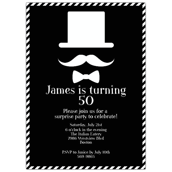 mustaches and bowties birthday invitations p 628 57 300