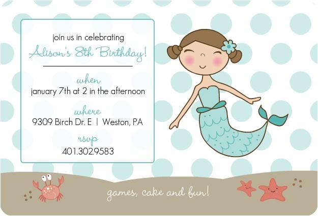 post free printable mermaid invitation template 131203