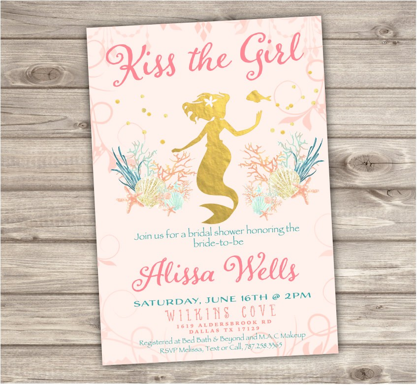 rose gold bridal shower mermaid