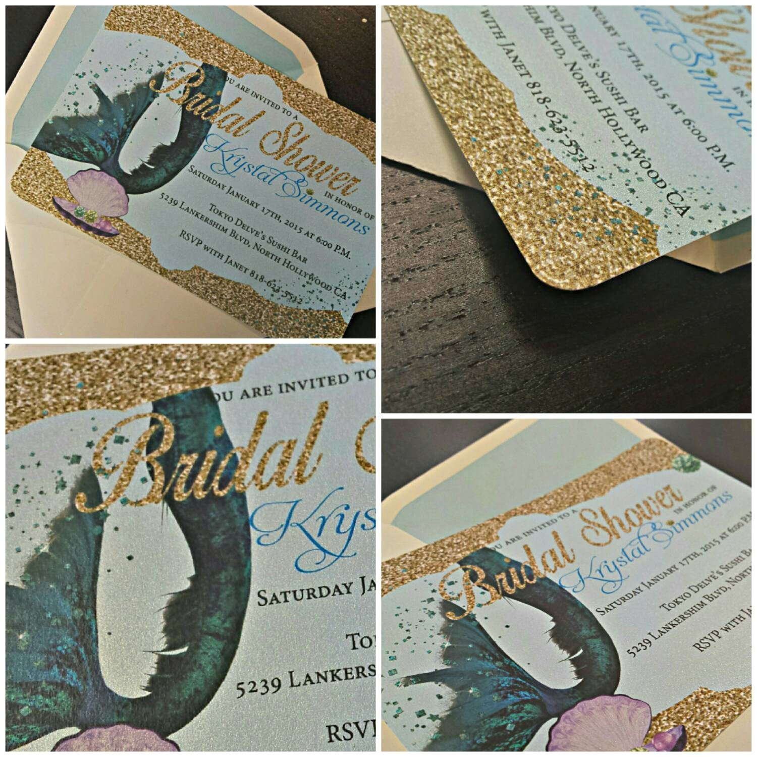 mermaid bridal shower invitation mermaid