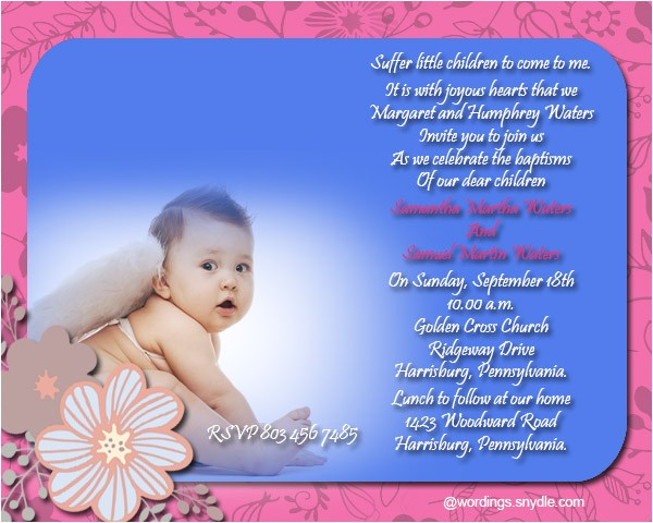 Message for Baptism Invitation Card Baptism Invitation Wording Samples Wordings and Messages