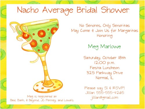 bridal shower invitations fiesta theme