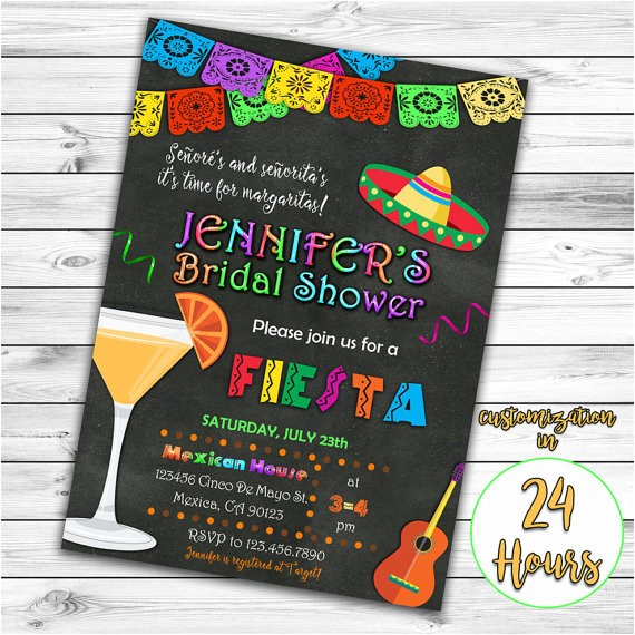 fiesta bridal shower invitation mexican ref unav listing other