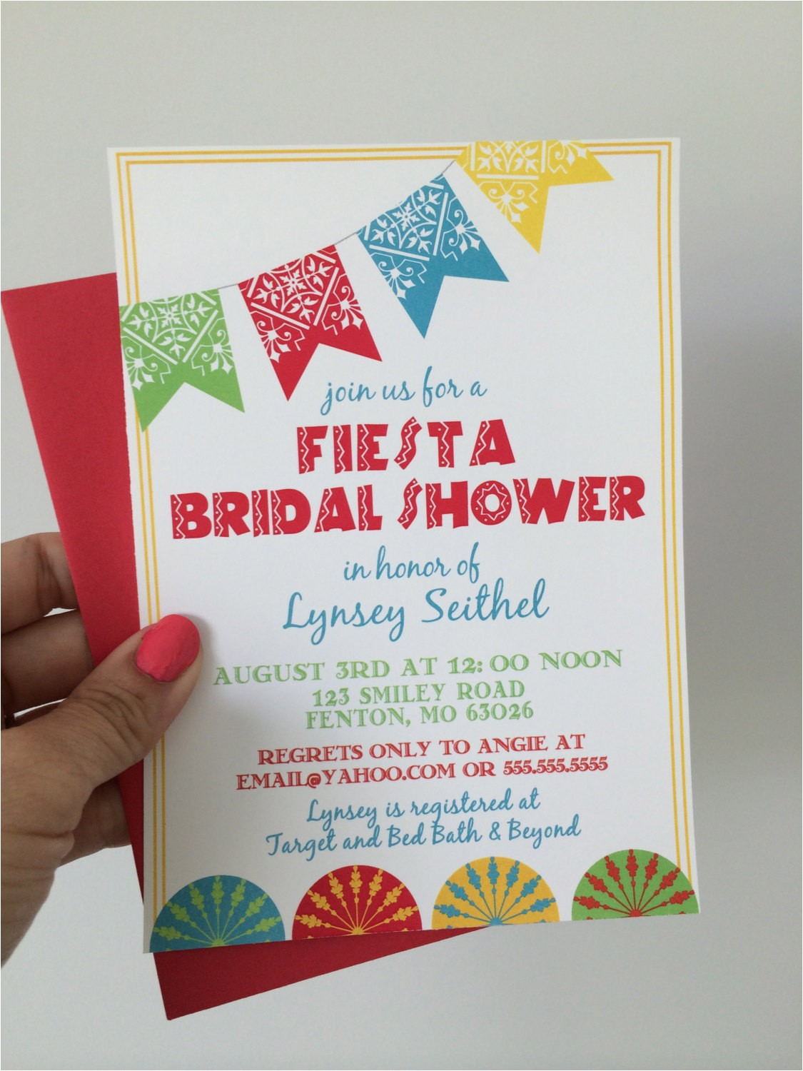 fiesta bridal shower invitations mexican