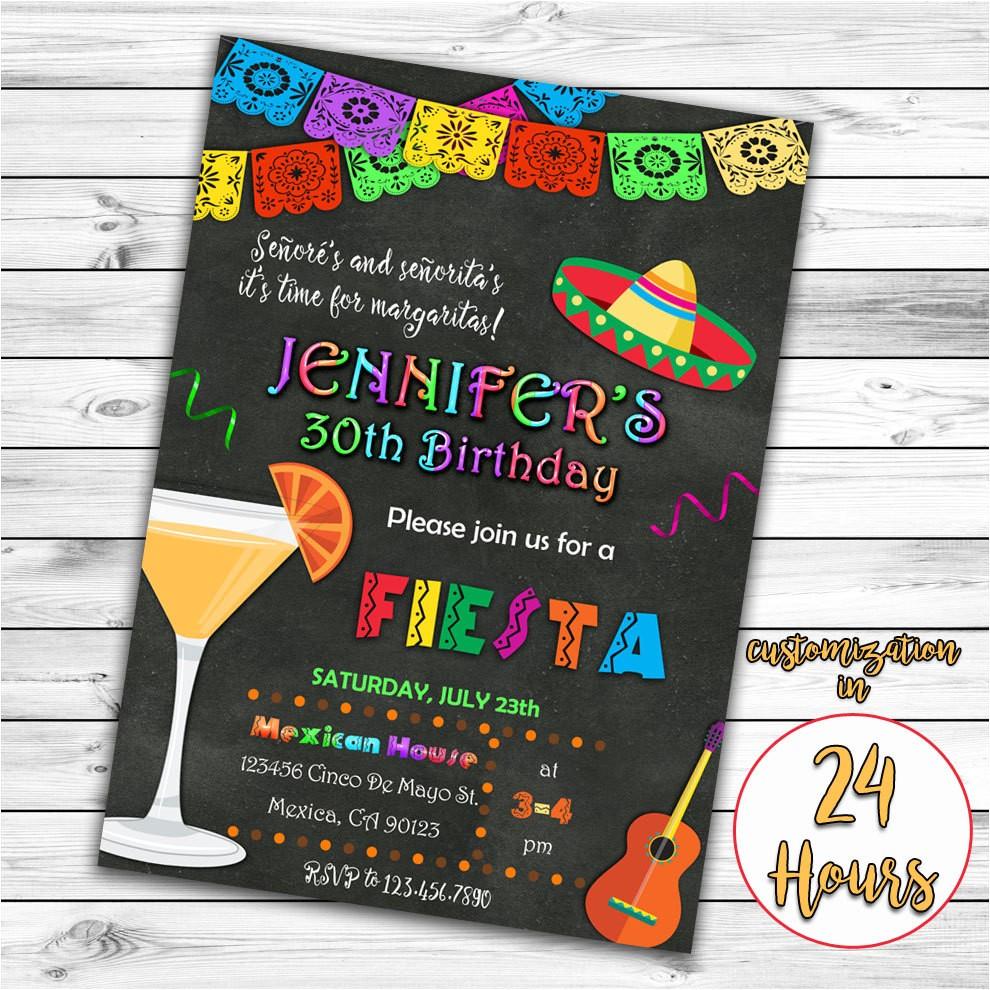 fiesta birthday invitation mexican