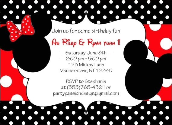 mickey and minnie invitations template