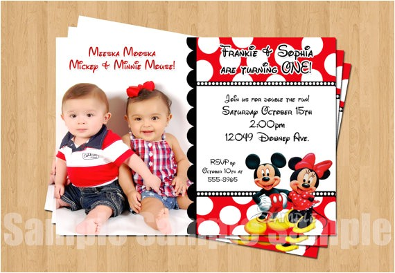 minnie mickey mouse twins birthday party