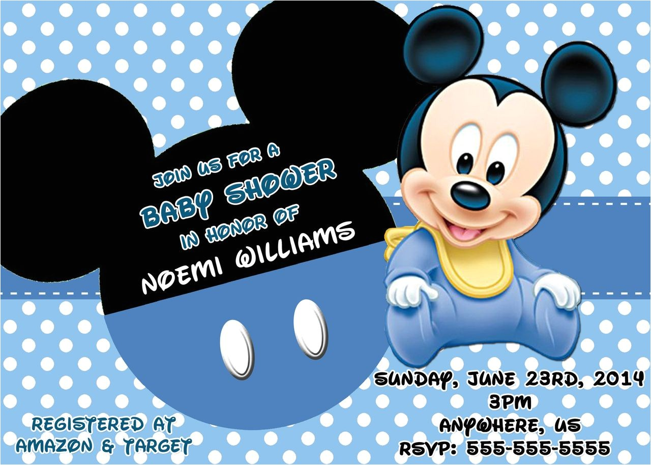 Mickey Mouse Baby Shower Invitations Mickey Mouse Baby Shower Invitations 3 Hd Wallpapers