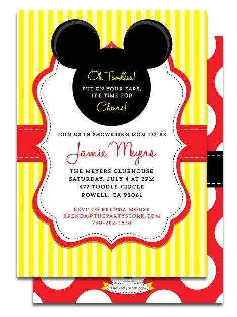 Mickey Mouse Baby Shower Invitations Party City Party City Mickey Mouse Baby Shower Invites Party