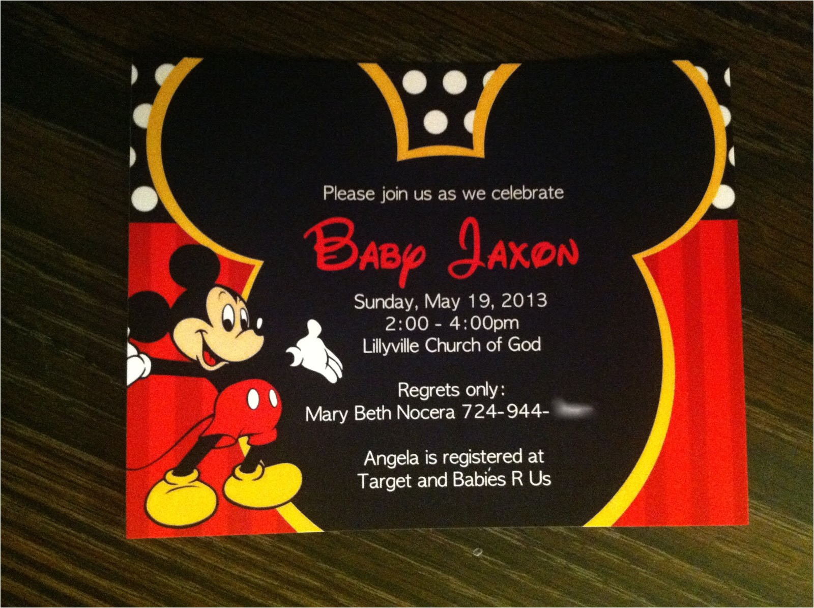 this awesome mickey mouse baby shower invitations will inspire you