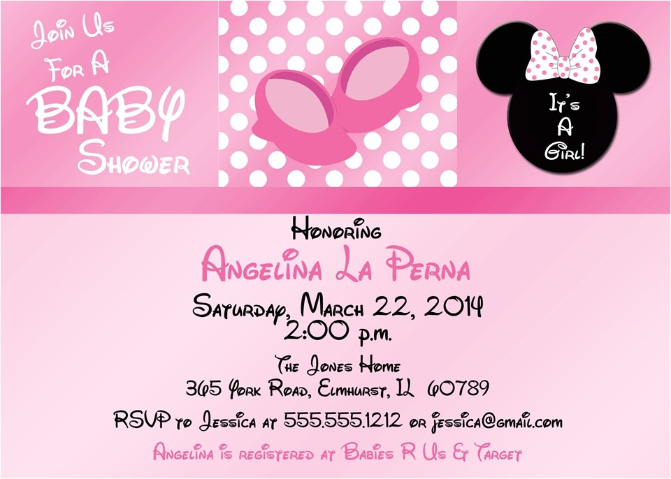 minnie mouse baby shower invitations at walmart minnie mous 92e24f