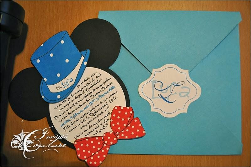 mickey mouse baptism invitation