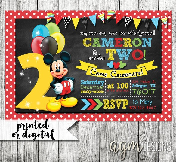 sample mickey mouse invitations