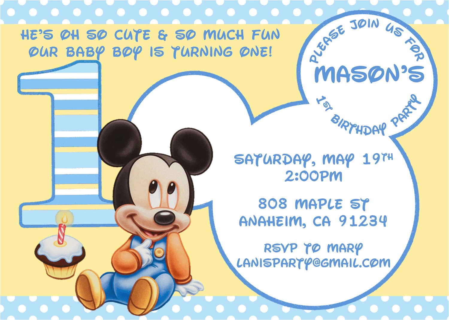 mickey mouse birthday invitation template