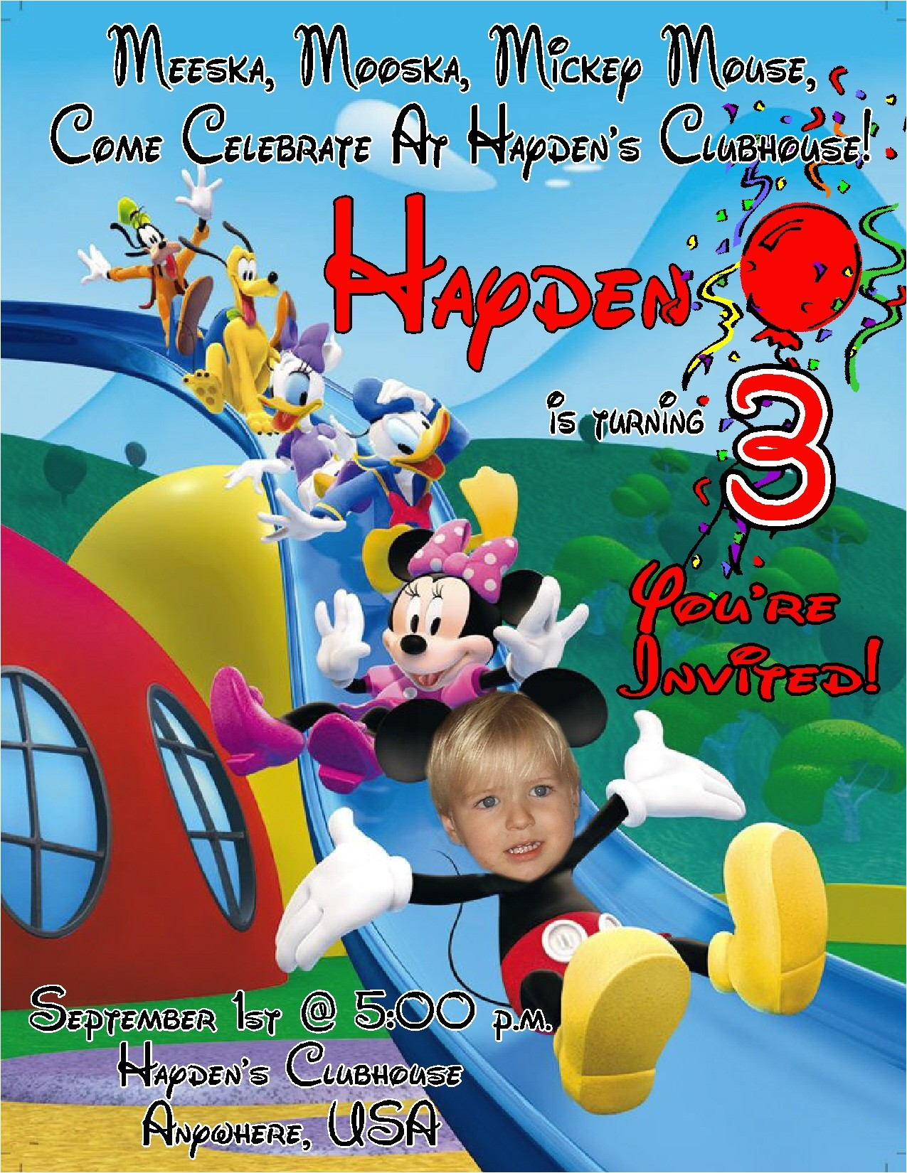 new collection mickey mouse clubhouse birthday invitations