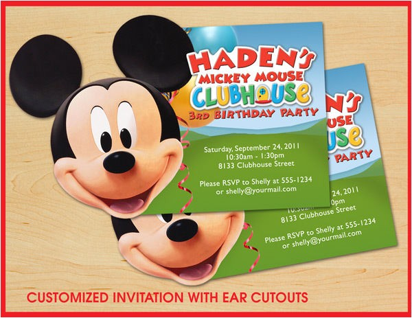 Mickey Mouse Clubhouse Birthday Invitations CUSTOM eBay