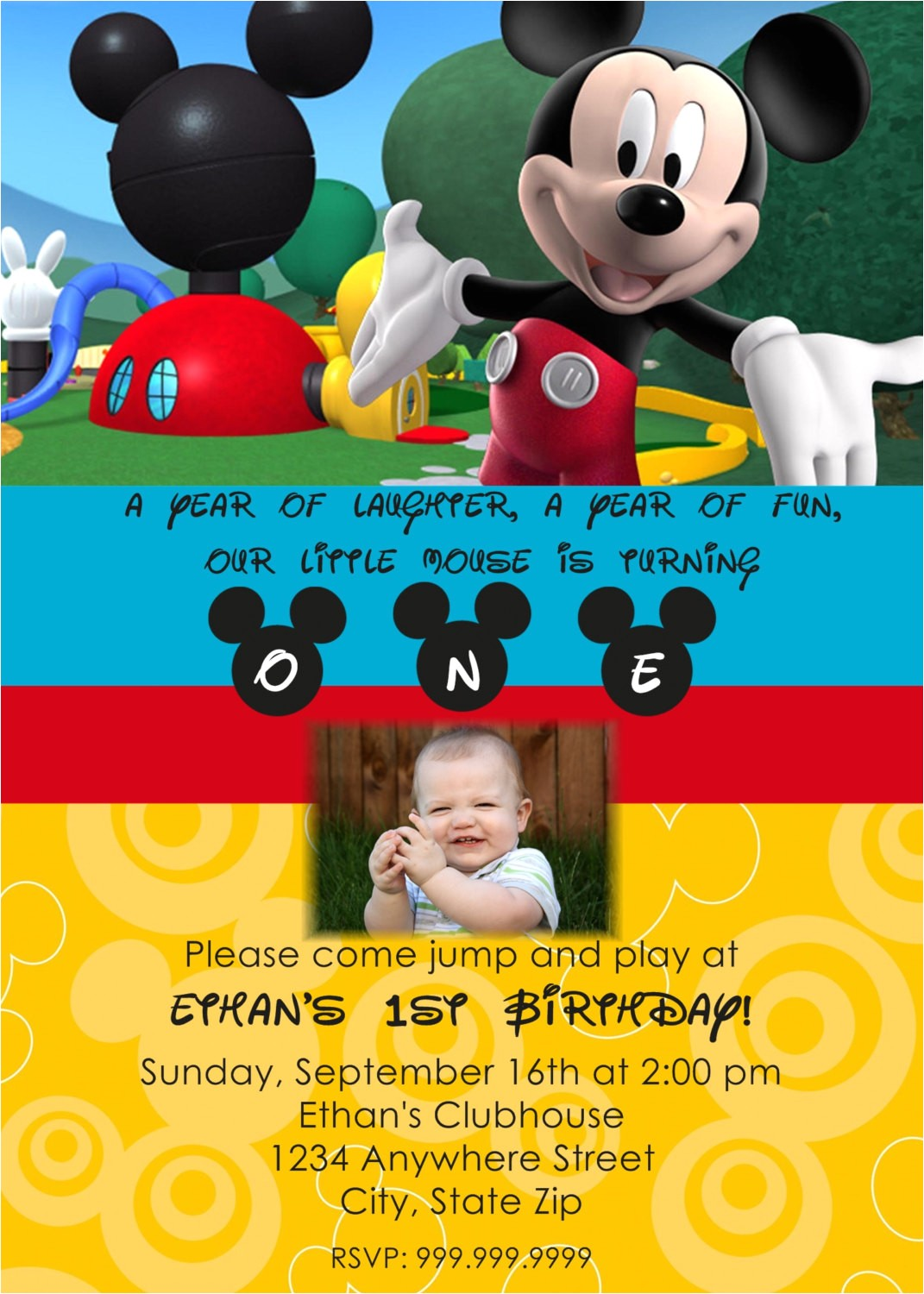 mickey mouse clubhouse personalized