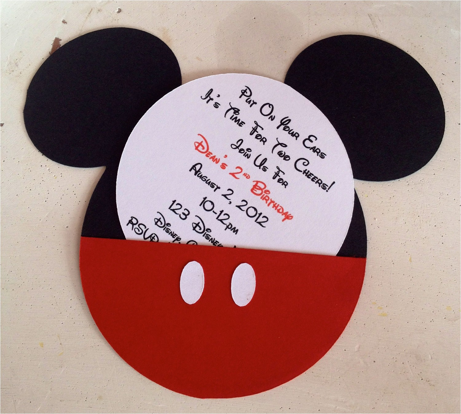 handmade custom red mickey mouse