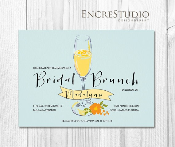bridal shower invitation mimosa bridal