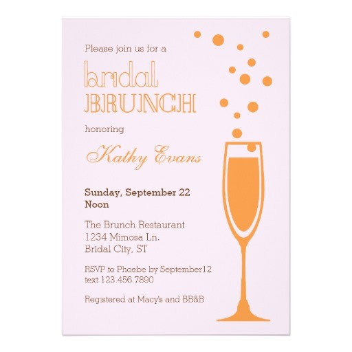 mimosa bridal brunch bridal shower invitation