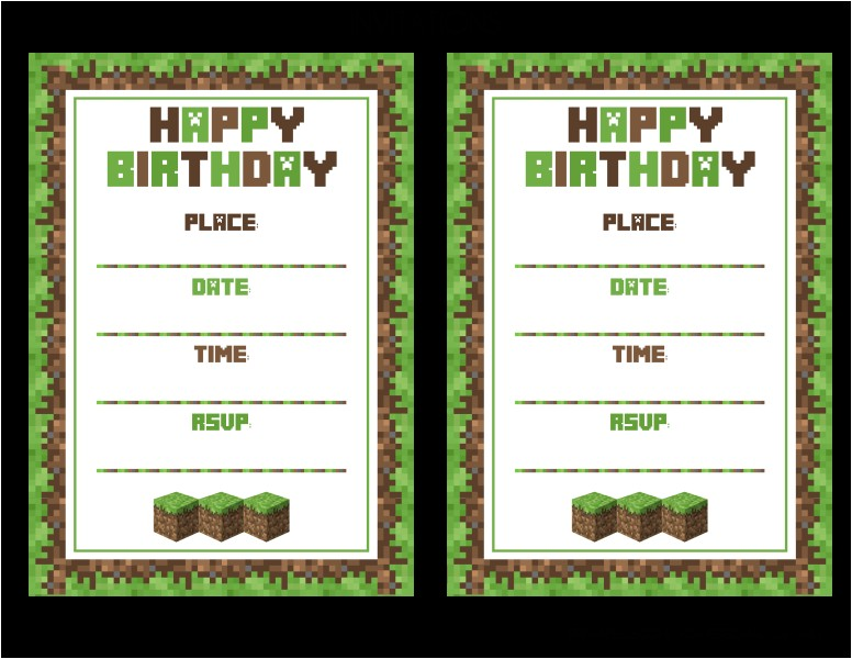free minecraft party printables from printabelle