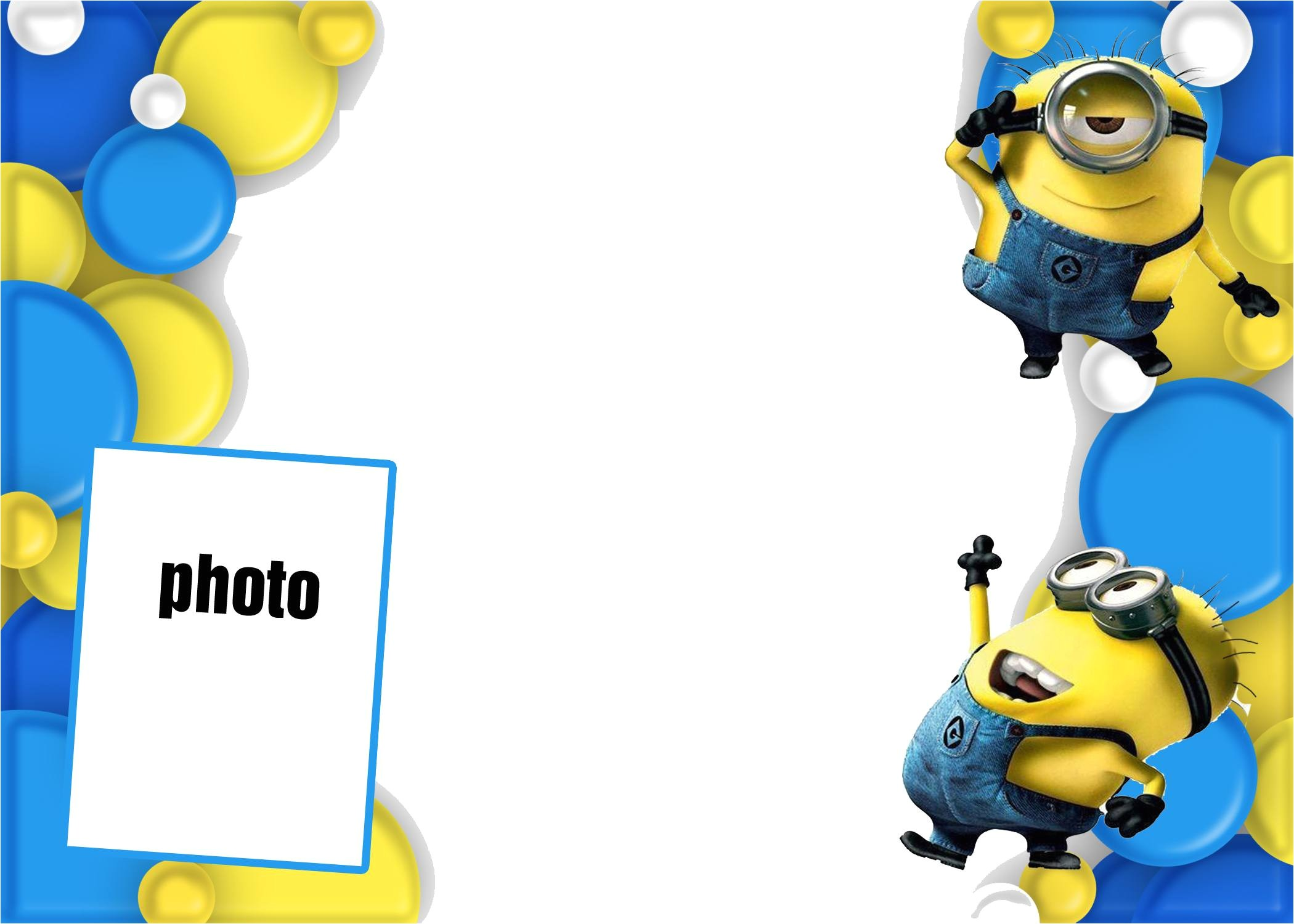 minion invitations template design for party ideas