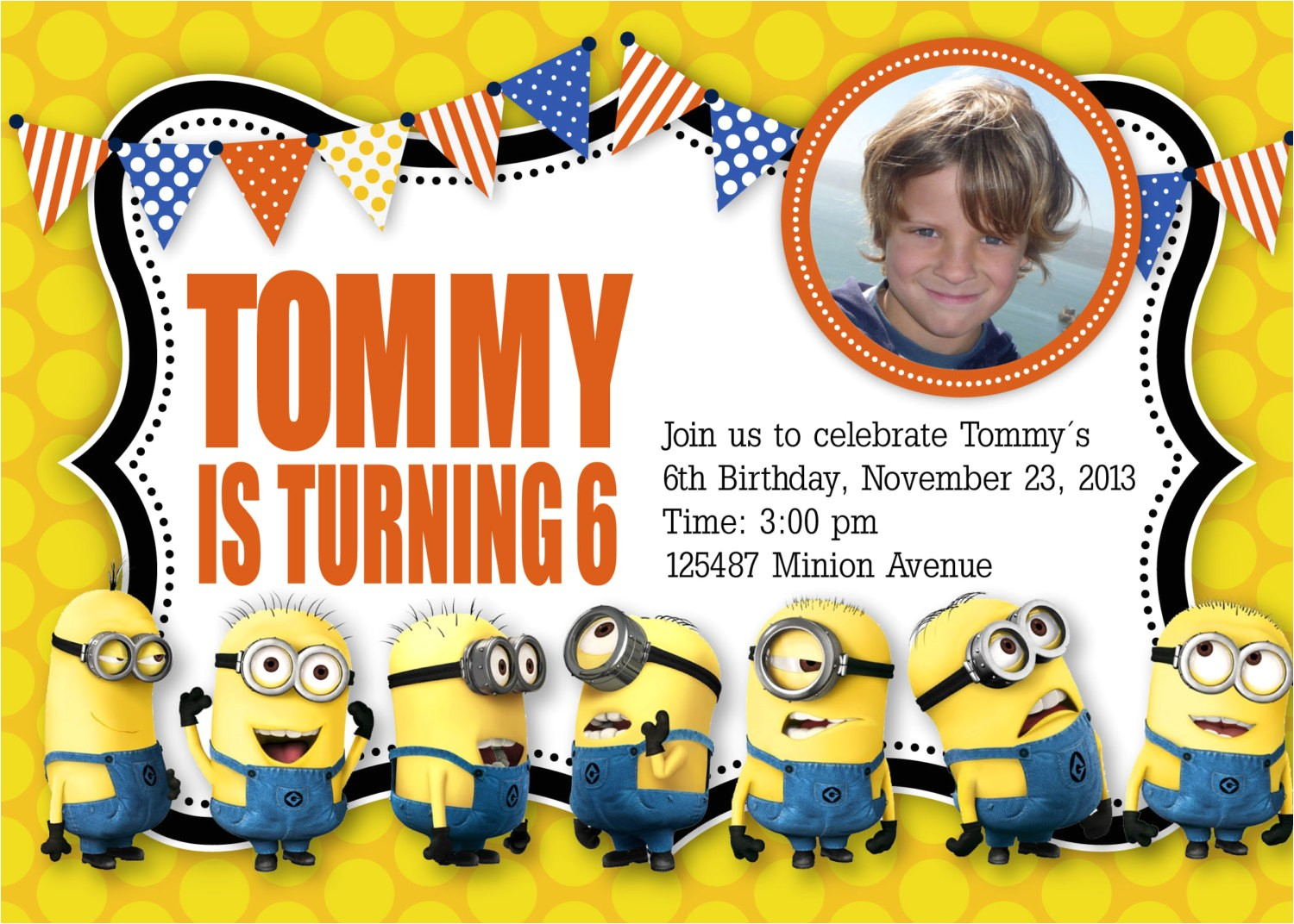 minion birthday invitations uk