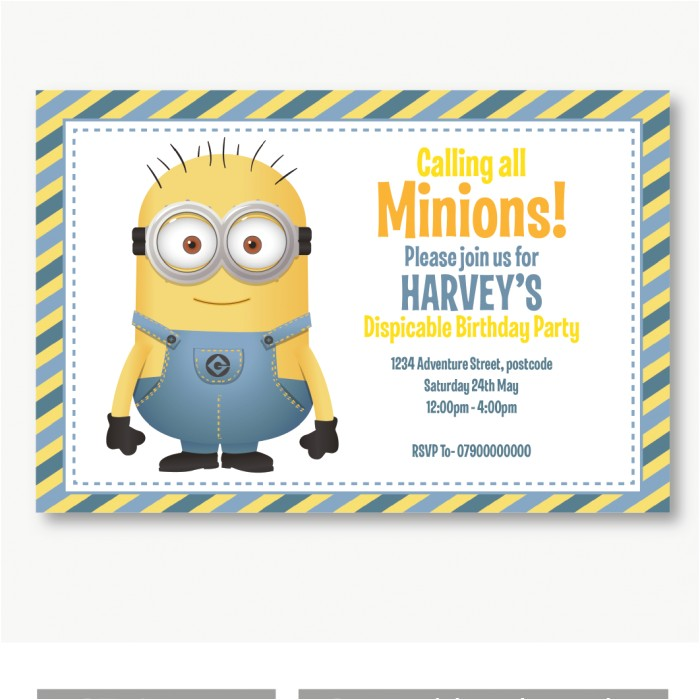 personalised minion invitation