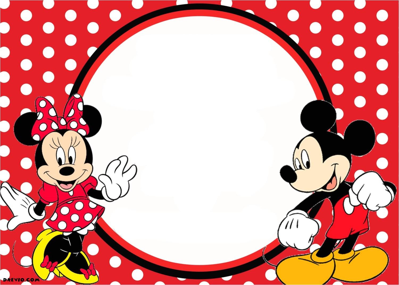free printable 1st mickey and minnie invitation