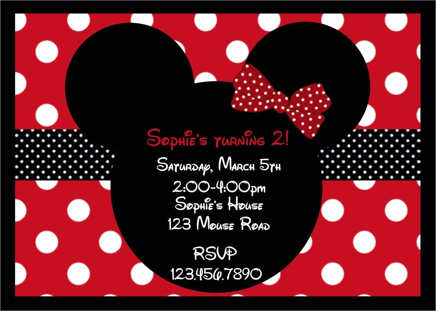 minnie mouse partyred