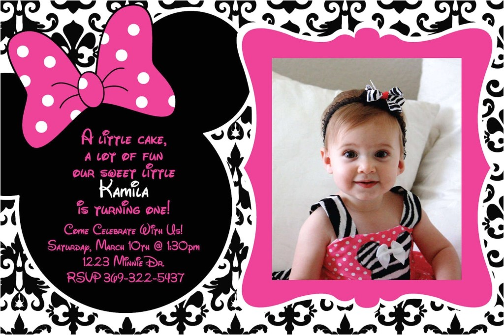 1st birthday invitations minnie mouse
