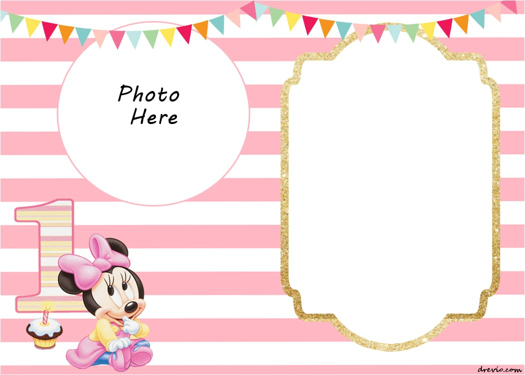 free printable minnie mouse birthday invitations