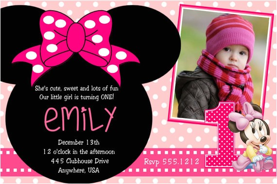 Minnie Mouse 2nd Birthday Invitation Wording Minnie Mouse 2nd Birthday Party Invitation Wording
