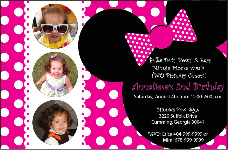 top 10 collection design minnie mouse birthday invitations