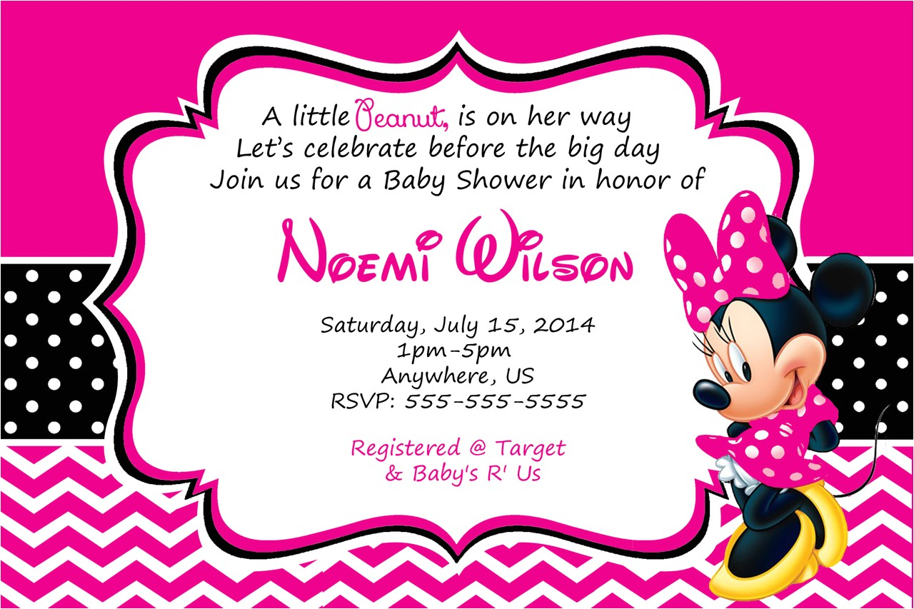 minnie mouse baby shower invitations free