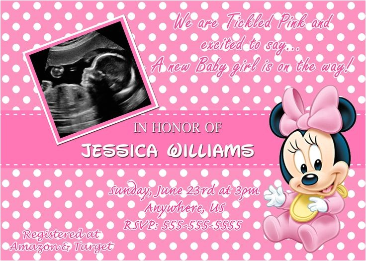 minnie mouse baby shower invitations walmart