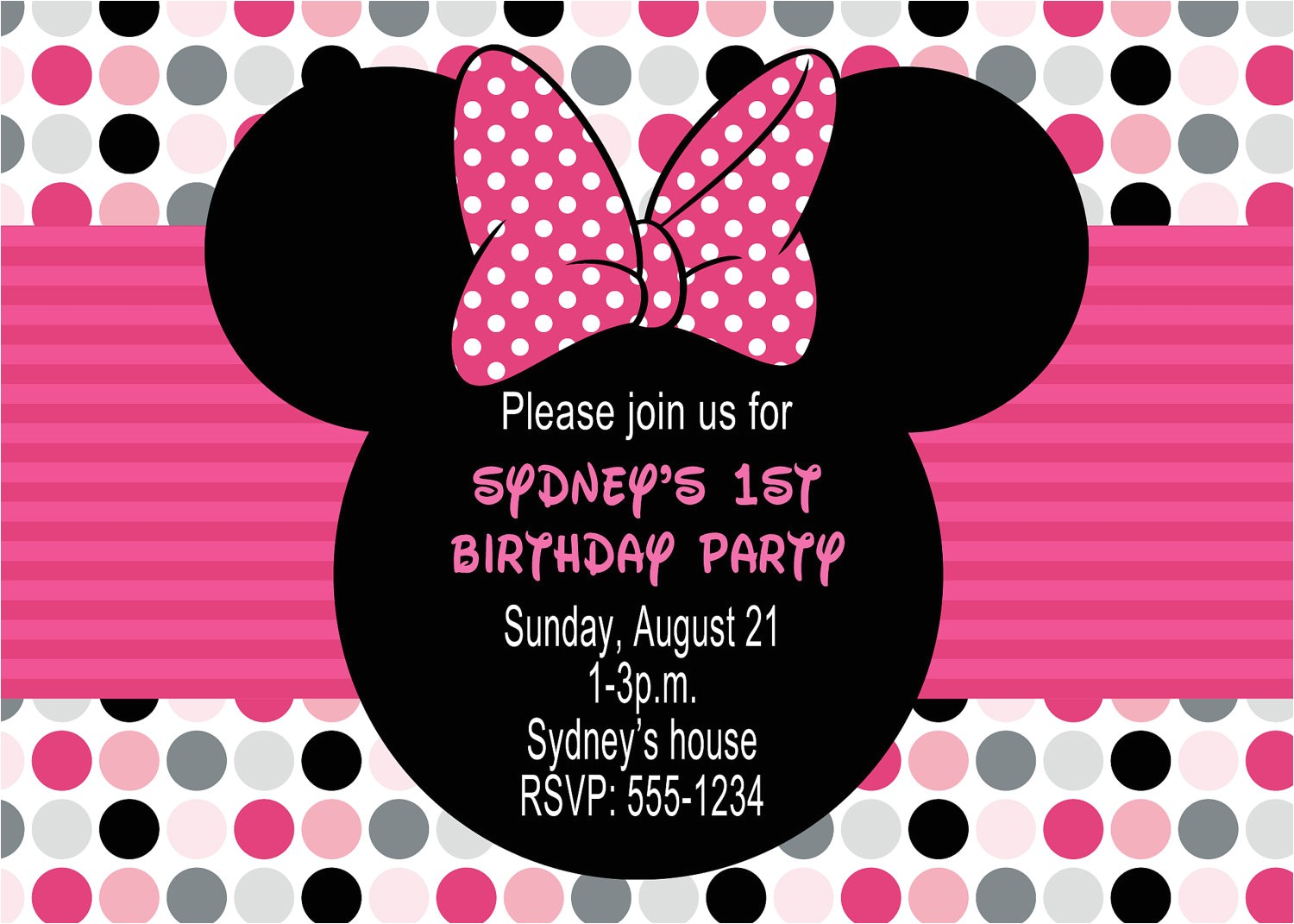 minnie mouse birthday party invitations