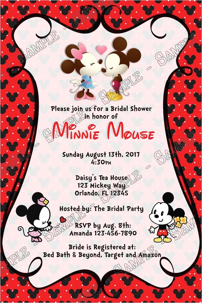minnie and mickey invitation
