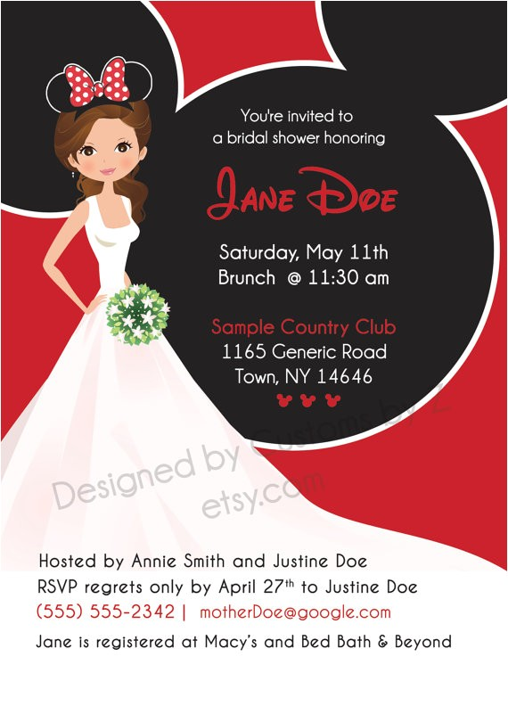 minnie mouse theme bridal shower