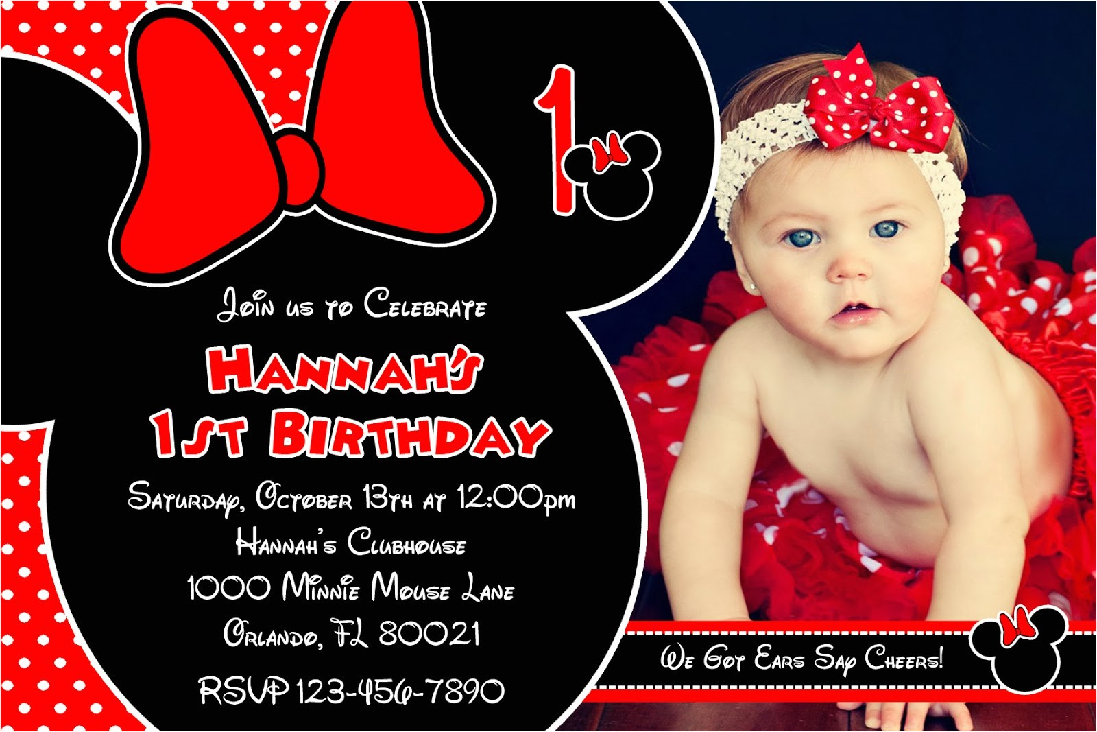 minnie mouse printable birthday invitations