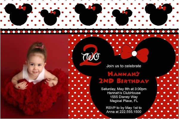 red minnie mouse birthday invitations ideas