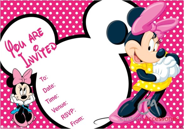 sample minnie mouse birthday invitation